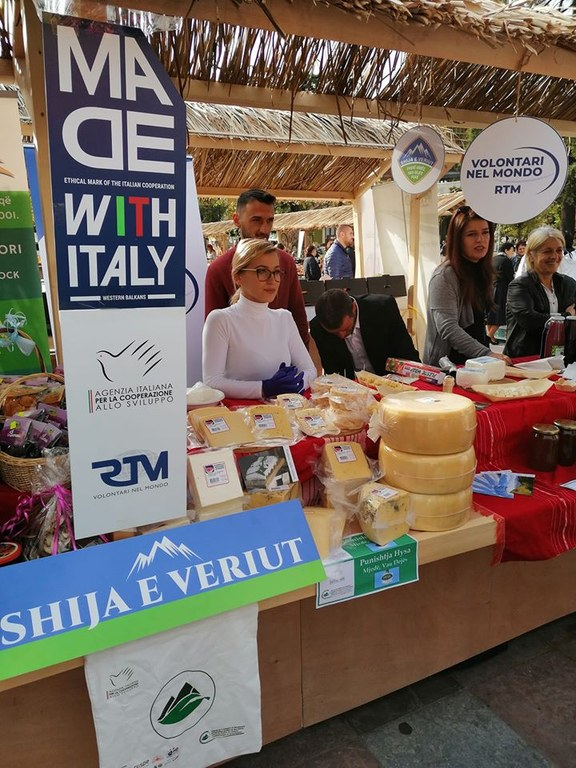 Shija e Veriut cheeses in Tirana Fair