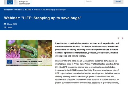 "LIFE webinar summary ""Stepping up to save bugs"""