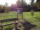The board located near football field in Albinea