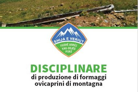 """E' stato pubblicato il Disciplinare di produzione di formaggi ovicaprini di montagna a marchio """"Shija e Veriut"""""""