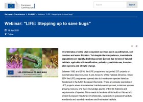 "Sintesi webinar ""LIFE: Stepping up to save bugs"""