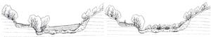 Figura 1. Esempio Schema attuativo dell'intervento di sbancamento naturaliforme di una sponda