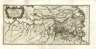 carta storica della pianura del 1716