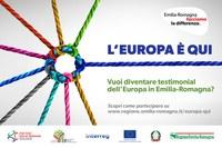 """Aperto ai programmi INTERREG il concorso della Regione ER """"L'Europa è qui"""""""