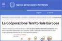 L'Agenzia per la Coesione Territoriale rinnova le pagine web dedicate alla CTE